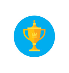 trowel award championship winner - concept icon vector image