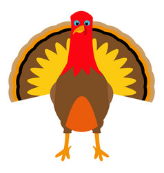 turkey pilgrimin on thanksgiving day vector image