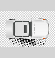 white car top view flat vector image