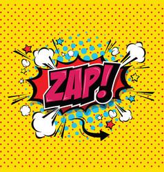 Zap comic speech bubble cartoon vector