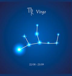 zodiac constellation virgo maiden vector image