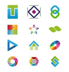 Creative logo elements vector image vector image