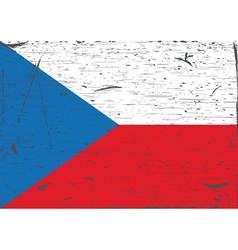 Czech flag grunge vector