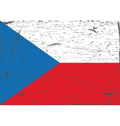 Czech flag grunge vector image vector image