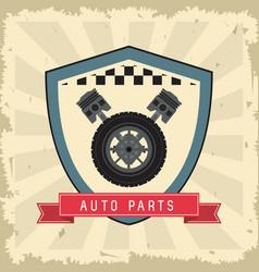 mileage icon auto part design graphic vector image vector image