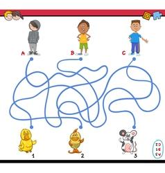 path maze vector image vector image