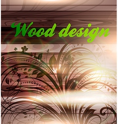 Wooden Floral Background vector image