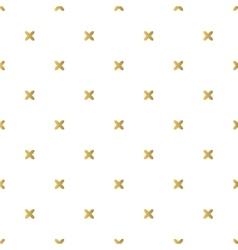 Christmas golden background seamless tiling vector image