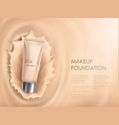 colorstay make-up in elegant packaging on a vector image vector image