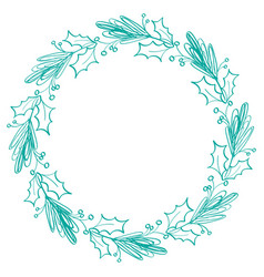 flourish calligraphy vintage holiday frame and vector image