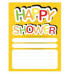 happy shower invitational card vector image