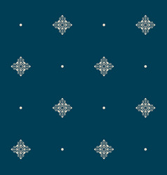 seamless pattern with tiny knot signs and pearls vector image
