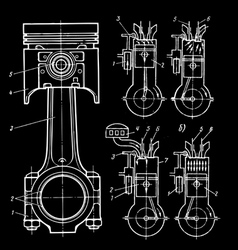 set of blueprints vector image vector image