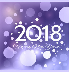 beautiful happy new year 2018 background vector image vector image