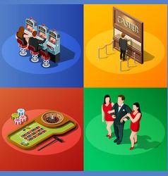 casino 2x2 isometric design concept vector image