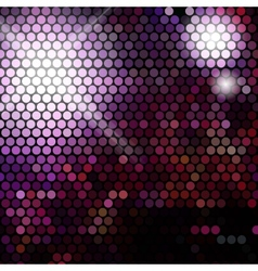 Gold disco lights - abstract background vector image vector image