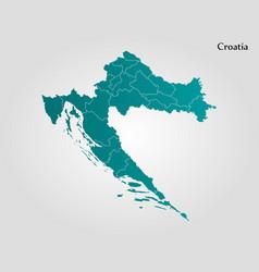 map of croatia vector image