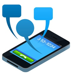 social mobile phone vector image vector image