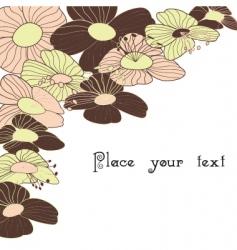spring summer floral background vector image vector image