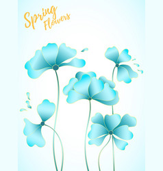 abstract floral scard vector image