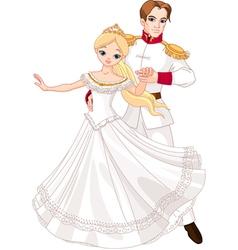 Dancing prince and princess vector image
