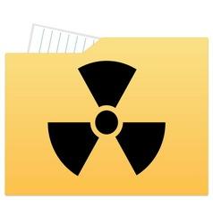File folder with radiation sign vector image