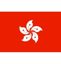 Flag of Hong Kong in correct proportion and colors vector image