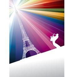 jazz trumpeter in paris vector image