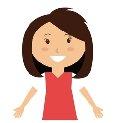 Little and cute kid smiling vector image