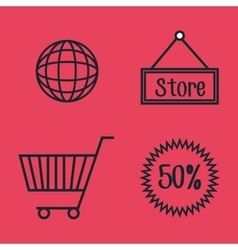 set e-commerce shop online design vector image