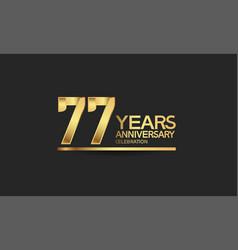 77 years anniversary celebration with elegant vector