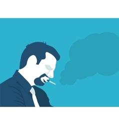 a man Smoking vector image