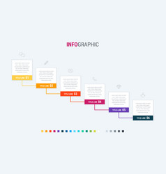 abstract business modular infographic template vector image