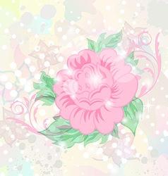 Abstract romantic grunge background with flower vector image