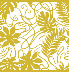 abstract tropical florals vintage ornament vector image