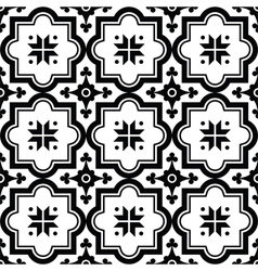 Arabic pattern Moroccan black tiles design vector