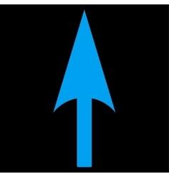 Arrow Axis Y flat blue color icon vector image