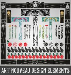 Art nouveau design elements vector