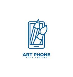 art phone logo vector image