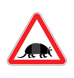 Attention armadillo caution nine-hip armadillo vector