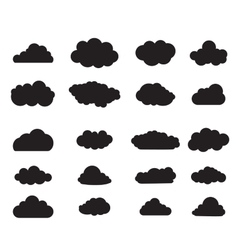balck Cloud set vector image