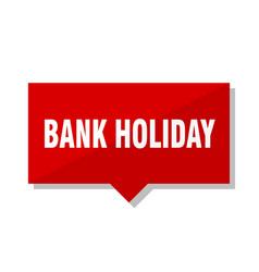 Bank holiday red tag vector