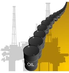Barrels of oil vector image vector image