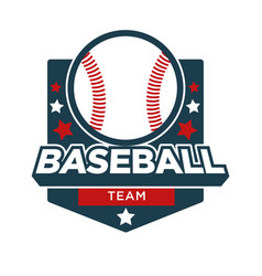 Baseball sport team badge icon vector