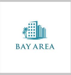 bay area logo design idea vector image