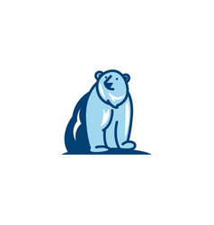 Bear logo icon design vector