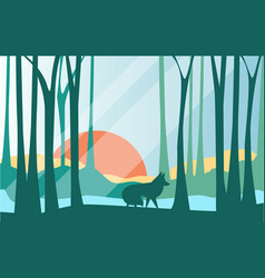 beautiful scene of nature peaceful landscape with vector image
