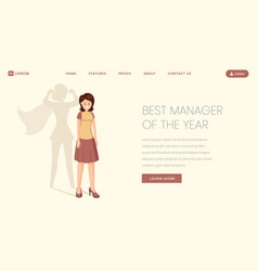 best manager landing page template super vector image