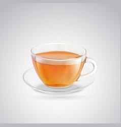 Black tea cup vector