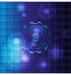 Blue Abstract dots light mosaic vector